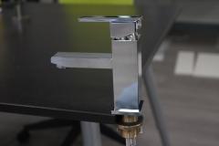 Chrome faucet close up