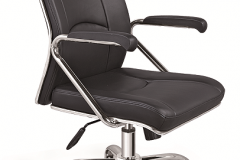 Black Task Chair With Open arms